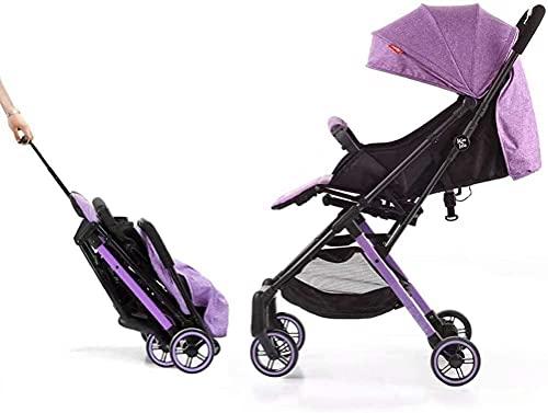 Cochecito de bebé Portátil Portátil Cochecito de viaje Cochecito de viaje para el recién nacido. Cochecito para niños pequeños. (Color : Purple)