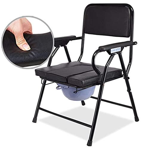 N&O Renovation House Medizinische Nachtkommoden 4 in 1 Multifunktionaler tragbarer Stahlrohr-Bidet-Dusche-Nacht-Toilettenstuhl mit abnehmbarem gepolstertem Sitz und Töpfchen für Behinderte