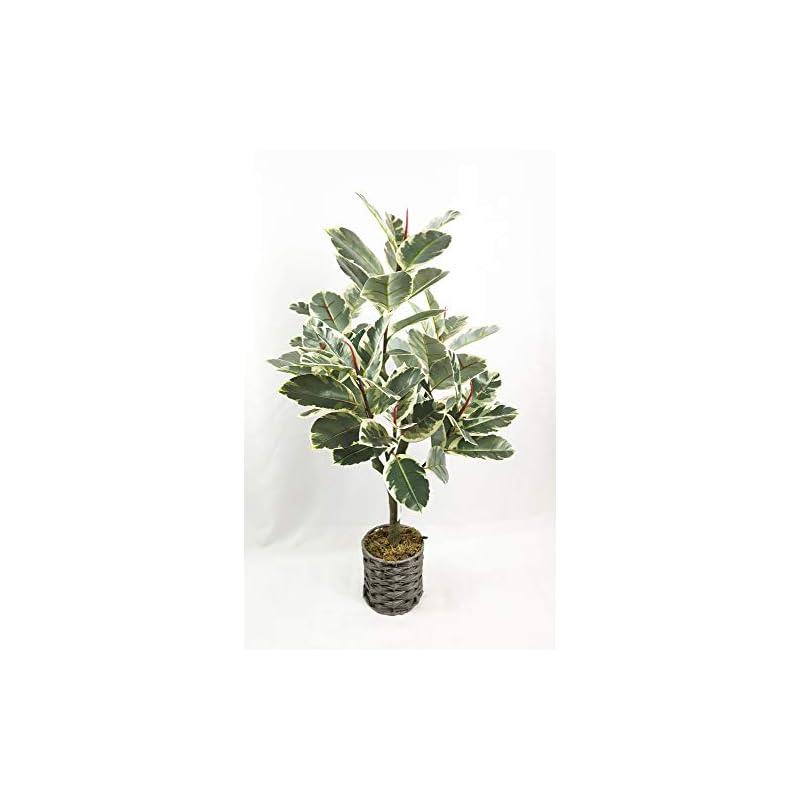 "silk flower arrangements 34"" artificial rubber tree plant faux tropical ficus elastica tree for home office decoration 1 pack"