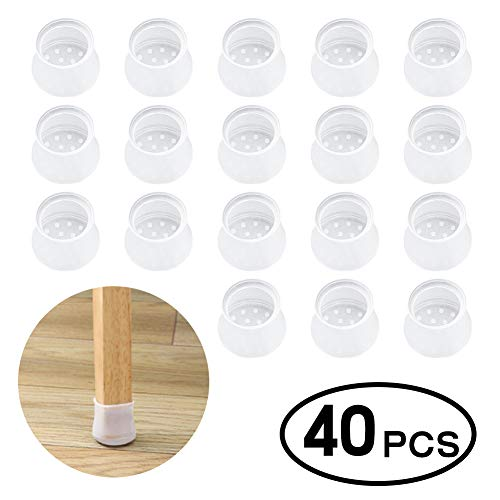 40 PC Silicone Furniture Chair Legs Caps Pack $8.50 (50% Off with code)