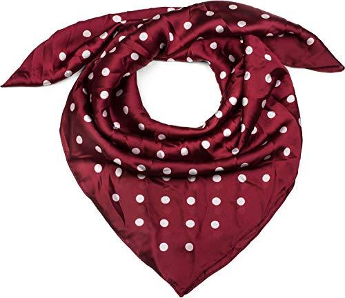 styleBREAKER Damen Dreieckstuch mit Polka Dots Punkte, Multifunktion Tuch, Halstuch, Kopftuch, Bandana 01016171, Farbe:Bordeaux-Rot
