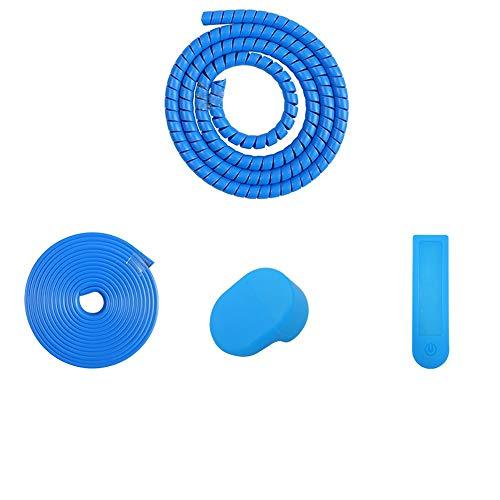 Kits de protección piezas para Xiaomi M365 Pro / M365 Scooter eléctrico 100cm Tira de protección en espiral + Protección del tablero de instrumentos + 200cm Tira de protección anticolisión (AZUL)