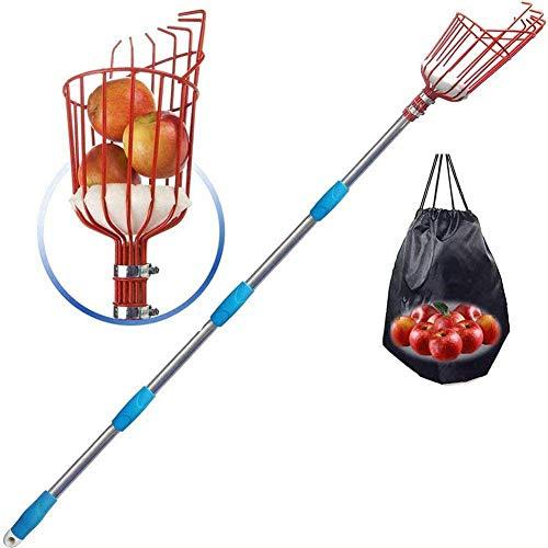 CIVIKY cueilleur de Fruits, Outils de cueillette de verger avec Panier de récolte de Fruits à Long Manche pour Grenade Poire pêche-3.6M