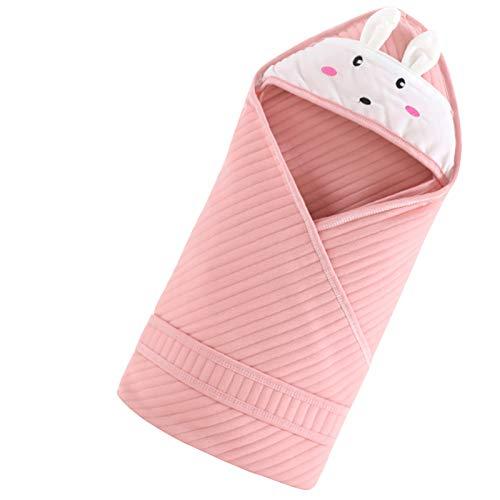 LUO Sacos de Dormir Bebé Bionic Saco de Dormir, Manta de bebé usable, del Recién Nacido edredón, algodón Puro, Kick-Prueba edredón, Unisex 0-6 Meses (Color : Pink)