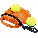 Shamdon Home Collection Tennistrainer Tennisball Trainer Tennis Baseboard mit Schnur und 2 Trainingsball Selbststudium Praxis Kinder Tennisball Training Tool für Anfänger, Erwachsene (Orange)
