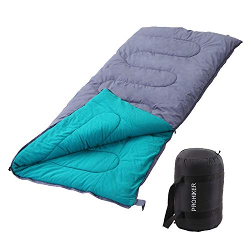 Leasbar Camping Sleeping Bag for Adults Kids Cold Weather -4℉ 3 Season Outdoor Indoor Envelope Sleeping Sack Pad for Hiking Hunting Attachable with Compression Sack Canvas+Flannel