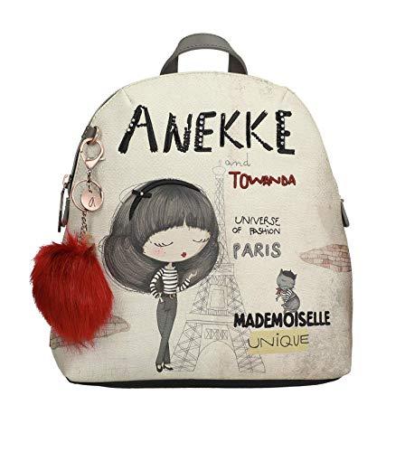 Anekke   Mochila para Mujer   Mochila con Bolsillos Interiores y Exteriores   Diseño Original para Todo Tipo de Ocasiones   Comoda y Versatil Ideal para el Día a Día