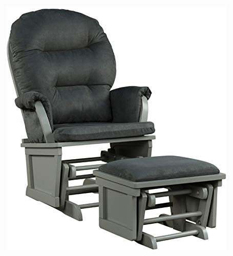 HomyDelight Living Room Furniture Set, Baby Nursery Relax Rocker Rocking Chair Set, Dark Gray