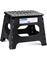 Dyforce Non-Slip Folding Step Stool - Height Premium Heavy Duty Foldable Stool for Adults Kids, Kitchen Garden Bathroom Camping Stepping Stool (1 Pack)