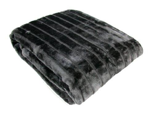 Kuscheldecke 150x200cm Tagesdecke Nerzoptik Wohndecke Decke grau