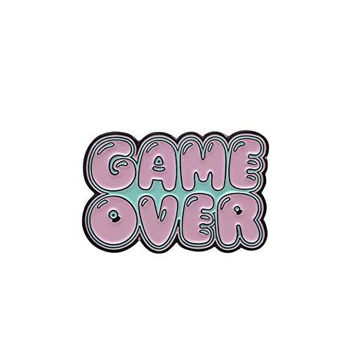 Bonito broche de consola de juego rosa de dibujos animados, broches de...