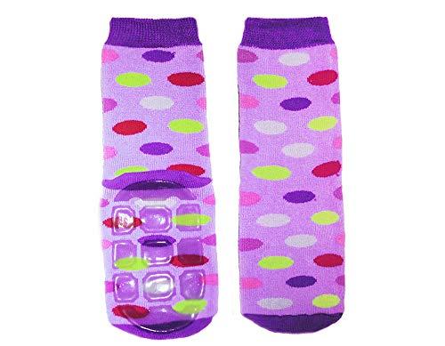 Weri Spezials Baby- und Kinder Voll-ABS Socken 'Punkte', Farbe:Flieder, Größe:18/19