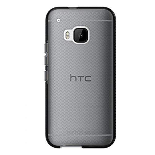 Tech21 Evo Check Schutzhülle Hülle Cover Widerstandsfähig Schlagfest mit FlexShock Technologie Aufprallschutz & Karomuster für HTC One M9 - Schwarz