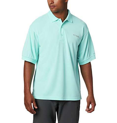 Columbia Herren Perfect Cast Polo Shirt Poloshirt, Gulf Stream, 5X Tall
