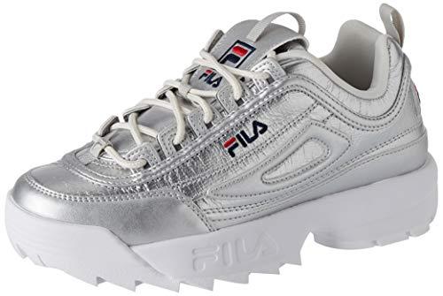 Fila Disruptor F Low Wmn, Zapatillas Mujer, Plateado (Plata), 37 EU