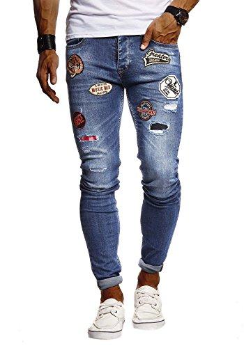 Leif Nelson Vaqueros para Hombre Pantalones Jeans LN-9275 Azul W29/L32
