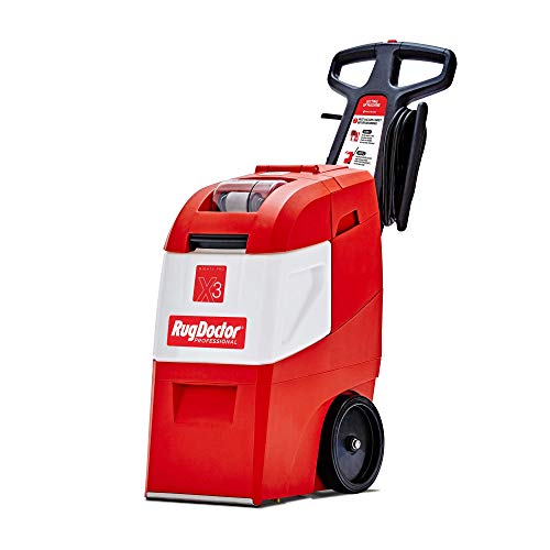 Rug Doctor Mighty Pro X3 Commercial Carpet Cleaner, Pack Out, Red (Renewed)