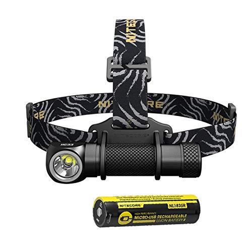 FENGNANMY Linterna Frontal Faro portátil XHP35 HD LED máximo 1800 lúmenes de viga de lúmenes 187 Metros de Faro 8 Modos de Trabajo Luz de Cabeza al Aire Libre (Emitting Color : HC33 NL1835R)