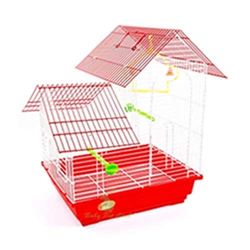 BOOB Wrought Iron Medium Large Bird Cage for Parrots Lovebird Cockatiel Parakeets Best Choice Products Large Play Top Bird Cage Red Package 4