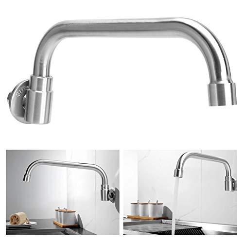 DSJSP G1/2 Grifo de lavabo de acero inoxidable solo grifo frío grifo de agua para suministros de cocina (plata)
