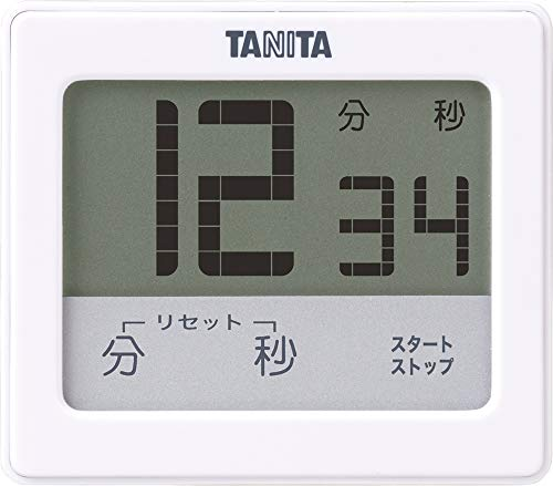タニタ キッチン タイマー 防水 マグネット付き タッチパネル ホワイト TD-414 WH