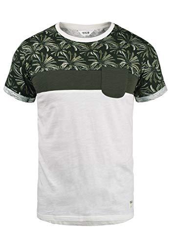!Solid Florian Herren T-Shirt Kurzarm Shirt Rundhals-Ausschnitt aus 100% Baumwolle Meliert, Größe:L, Farbe:Rosin (3400)