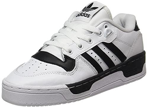 adidas Rivalry Low, Zapatillas de Running, FTWR White Core Black-Reloj de Pulsera para Hombre, 43 1/3 EU