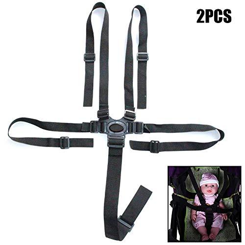 2pcs Verstellbares Harness Safe Sicherheitsgurt Sicherheitsgurte Gurt für Buggy Hochstuhl Kinderwagen Buggy Kinder Kid Kinderwagen