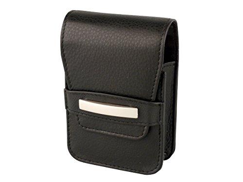 Zigarettenetui ECHT Genuine Leder Nizza Schwarz für Normale Schachteln + Big Box und 100 er - LK Trend & Style