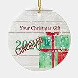 Christmas Holiday Corona Virus 2020 Rustic Wood Ceramic Ornament 3' Ceramic Christmas Ornament Xmas...