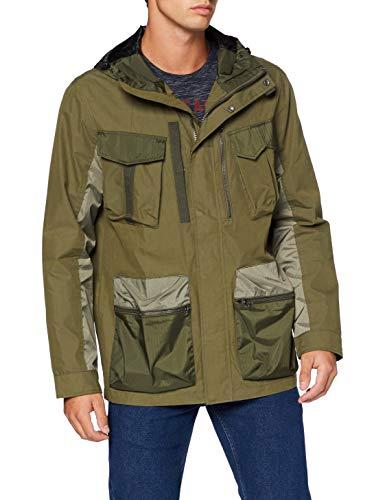 Superdry Dress Code 4 Pocket Chaqueta, Verde (Khaki 03o), XXL para Hombre