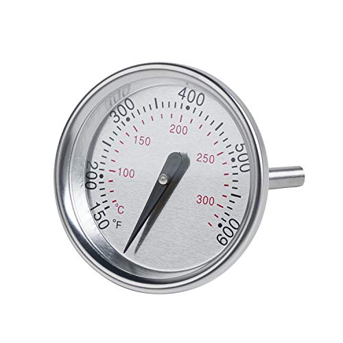 60540 Grillthermometer Ersatz für Weber Spirit 200 & 300 Serie, 7581 Thermometer für Weber Genesis, Holzkohle, Q und Kugelgrills, genaue Temperaturanzeige, 1-13/16 Zoll Durchmesser
