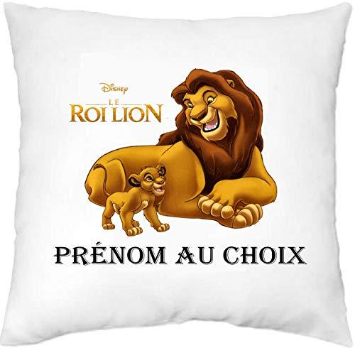 Générique Mille et Un KDO - Housse de Coussin personnalisée Le Roi Lion prénom au Choix