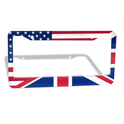 Customized License Plate Frame 12×6 inch American and Canadian Standard License Plate is Applicable American and British Flag