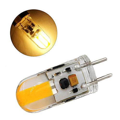 Lixada Dimmbare GY6.35 LED Lampe DC 12V Silikon LED COB Glühlampe 3W Ersetzen Halogenbeleuchtung (1 Pack)