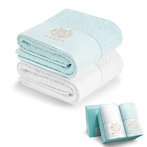 "WIIKWEEK 100% Cotton 27""x54""Bath Towels,Luxurious 600 GSM Jumbo Bath Towels,Highly Absorbent,Super Soft Hotel spa Bathroom Quality Towel,Premium Quality Perfect for Daily Use"