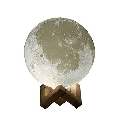 Lampe de Lune 3D, Touch Control, Veilleuse décorative pour la Maison Rechargeable pour Cadeau créatif et pour Anniversaire de Noël (7 Couleurs)
