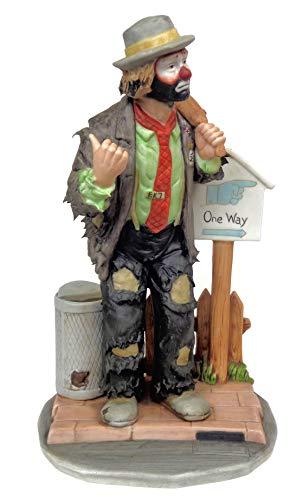 Emmett Kelly, Jr. - ''On The Road Again'' Collectible Clown Figurine w/ Original Box