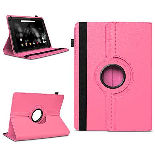 NAmobile Schutzhülle kompatibel für TrekStor Primetab P10 Tablet Hülle Tasche Hülle Cover 360 Drehbar, Farben:Pink