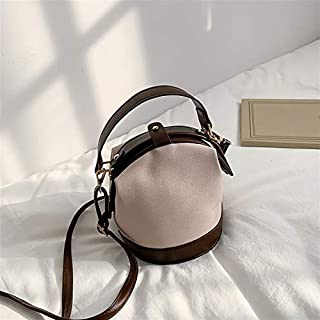 Dengyujiaansdjb Handbags For Women, Faux Suede Handbag Women Autumn And Winter Small Shoulder Messenger Bag Girl Bucket Me...