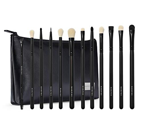 Makeup Brushes 32pcs, Yuwaku Professional Makeup Brush Set, Kabuki Face Eyes Shadow Eyeliner Foundation Blush Lip Powder Liquid Cream Blending Brushes (BLACK)