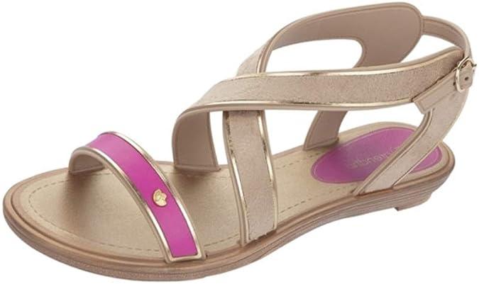 Womens Grendha Sandals Glamour Thong Toe Ring Flip Flops Jewells Gold Snake