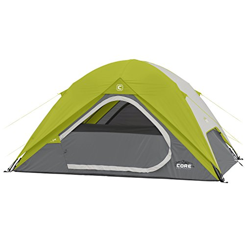 Core Equipment Core 4 Person Instant Dome Tent - 9' x 7', Green