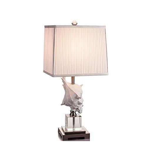 Jack Mall Cristallo mediterranea lampada da tavolo Conch letto comodino lampada moderna semplice modo creativo Soggiorno lampada da tavolo