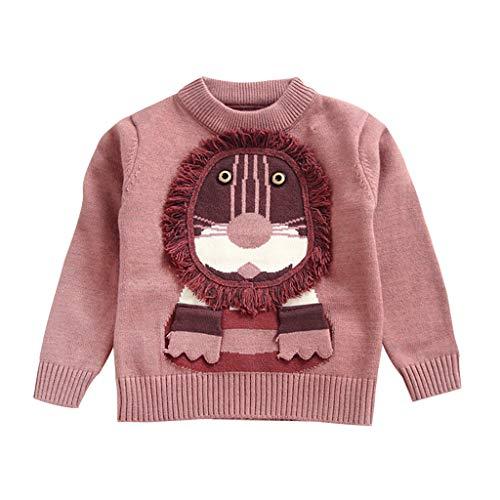 MEIbax otoño Invierno Dibujos Animados león niño niño bebé Sudadera niño suéter de Punto suéter Cuello Redondo Manga Larga Camiseta