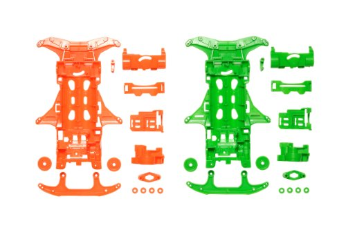 Mini 4wd - VS Fluorescent Chassis (Orange/Green)