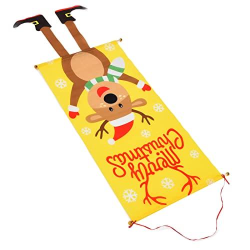 Fdit Banner Navideño, Adornos Navideños Decorativos para Porche para Puertas