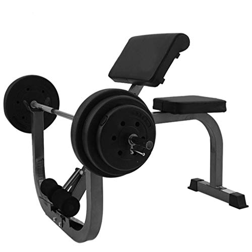 Adjustable Arm Curl Weight Bench Roman Chair, Individual Dumbbell Barbell Biceps Station Exercise Workout Multi-purpose Stool