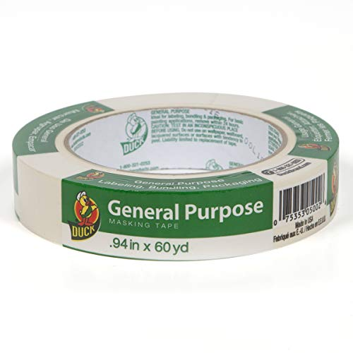 Duck Brand 394693 General Purpose Masking Tape, 0.94-Inch by 60-Yard, Single Roll, Beige