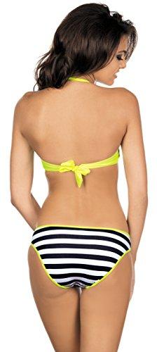 LORIN Bikini a Balconcino Set per Donna L2047/6 (Giallo (Modello-v2), EU(Coppa 75 B / 38)=IT(2B/44))